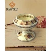Buy cheap ceramic candle holders wholesale High quality Catholic symbols Ceramic Religious decoration gifts from wholesalers