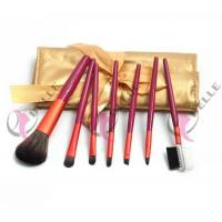 Buy cheap TB-7-47 Synthetic Hair 7pcs make up bush set with gold case from wholesalers