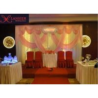 Wholesale ice silk material stage backdrop curtain wedding decoration background from china suppliers