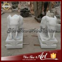Buy cheap Life Size White Marble elephant statue from wholesalers