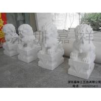 Buy cheap White marble sculpture White marble stone lions JX-001 from wholesalers