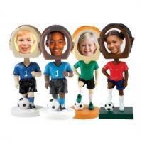 Wholesale custom bobbleheads soccer-photo-bobble from china suppliers