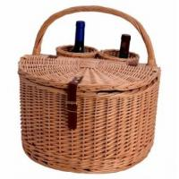 Buy cheap MY3A-1132 Wicker Wine Basket for Picnic from wholesalers