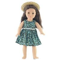 18-inch Doll Clothes - Tank Dress and Straw Hat with Ribbon - fits American Girl  Dolls Manufactures