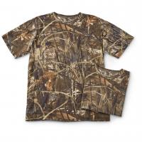 Buy cheap men's camo short-sleeved hunting t-shirts from wholesalers