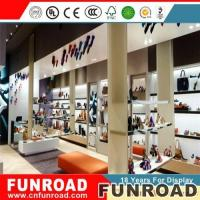 Buy cheap Modern bag and shoes store decoration custom made bag display showcase for sales from wholesalers