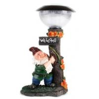 Buy cheap 820427 Resin garden gnome solar light decoration from wholesalers