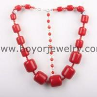 Buy cheap red resin bead fashion neckalce NK1138 from wholesalers