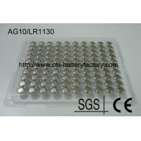 Buy cheap 1.55V AG10 LR1130 Alkaline Button Battery from wholesalers