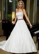 Wholesale A-line(Princess) Beaded Applique Satin Wedding Dress from china suppliers