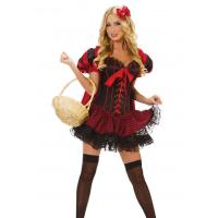 Buy cheap Red Swimming cloth satin ribbon Little Red Riding Hood cloak tight Maid Costumes #111019-43507 from wholesalers