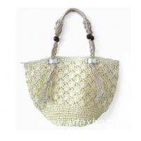 Buy cheap Women fashionable crocheted paper straw shoulder bag PA006 from wholesalers