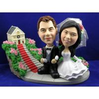 Wholesale Wedding Photo Church Theme Bobblehead Couple from china suppliers