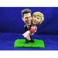 Buy cheap Groom Carrying Bride Cake Topper Bobbleheads from wholesalers