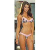 Buy cheap Sexy Polyester Bra Set H2074 In Pink from wholesalers