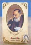 Wholesale St Pio (General Healing) Healing Holy Card with Medal from china suppliers