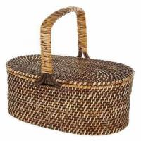 Buy cheap Oval Rattan Picnic Basket in BrownItem #: 311769 from wholesalers