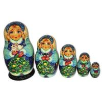 Snowmaiden with Christmas Bunny Matryoshka Manufactures
