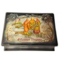 Buy cheap Gossiping - Russian Fedoskino Lacquer Box from wholesalers