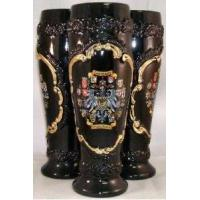 Buy cheap Black Wheat Beer Mug with Gold Relief German Beer Stein .5L from wholesalers