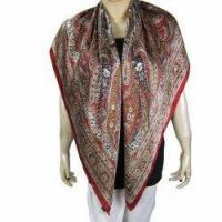 Buy cheap Printed Square Silk Scarf for Women India Dress from wholesalers