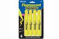 Wholesale BazicYellow Desk Style Fluorescent Highlighters (4/Pack) from china suppliers