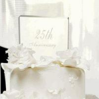 Buy cheap Engraved 25th Wedding Anniversary Acrylic Cake Topper from wholesalers