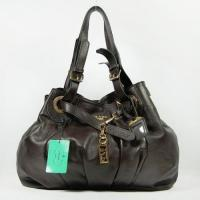 Wholesale Victoria Di Prada Coffee Leather Shoulder Bag 2012 from china suppliers