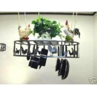 Wholesale Hanging Oval Pot Rack With Chickens & Roosters Amish Made from china suppliers