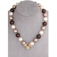 Brown Mix 10mm Caviar Magnetic Attractions Pearl Necklace