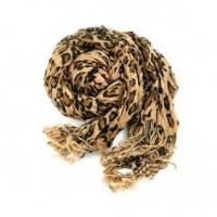 Buy cheap Autumn / Winter of 2010 Yellow Leopard Print Fringed Long Cashme from wholesalers