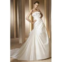 Wholesale Strapless Scalloped Satin Designer Wedding Gowns With Bow Knot from china suppliers