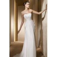 Buy cheap Strapless Column Sash Drapping Sheath Simple Wedding Dress 2012 Online from wholesalers