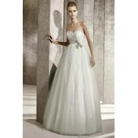 Buy cheap Sweetheart Column Tulle Pleated Corset Princess White Wedding Gown 2012 from wholesalers