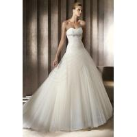 Sweetheart Pleated Organza And Tulle Princess Bridal Dresses Sale Manufactures