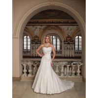 Buy cheap Elegant Mermaid Sweetheart Lace Wedding Dress with Beading and Applique from wholesalers