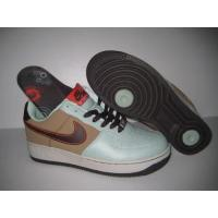 Buy cheap Men's Nike Air Force 1 Low Brown White/Black/Red/Light Green from wholesalers
