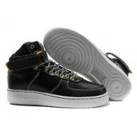 Buy cheap Mens Nike Air Force 1 Premium High Black White Shoes from wholesalers
