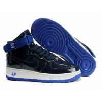 Buy cheap Mens Nike Air Force 1 Premium High Black Blue Shoes from wholesalers