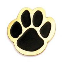 Wholesale Black and gold mascot paw lapel pin. $2.56ea from china suppliers