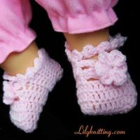 Buy cheap PATTERN in PDFCrocheted Baby Indoor Shoes booties with flower and leavesBaby Shoes 7 from wholesalers