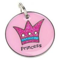 Wholesale 28mm Pink Princess K9 tag from china suppliers