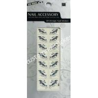 Buy cheap White And Black French Nail Stickers Easy Removable With Safety Glue from wholesalers