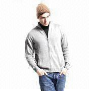 Buy cheap Men's Sweater with Zipper, Made of Cotton from wholesalers