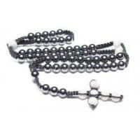 Buy cheap Shamballa Handcrafted Beaded Necklace, Magnetic Hematite Rounds & Crystal Pave Argil Beads from wholesalers