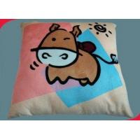 China Personalized Double Side Printed Micro Plush Plain Graphic Decorative Pillow Fabric Throw on sale