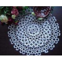 Vintage Handmade Tatted Lace white Round Doily/Placemat 15