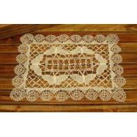 Wholesale Unique Hand Bobbin Lace butterfly Tray Cloth/placemat-off white from china suppliers