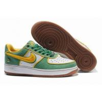 Buy cheap Nike Low Tops Air Force 1 QueensGreen Gold White Shoes from wholesalers