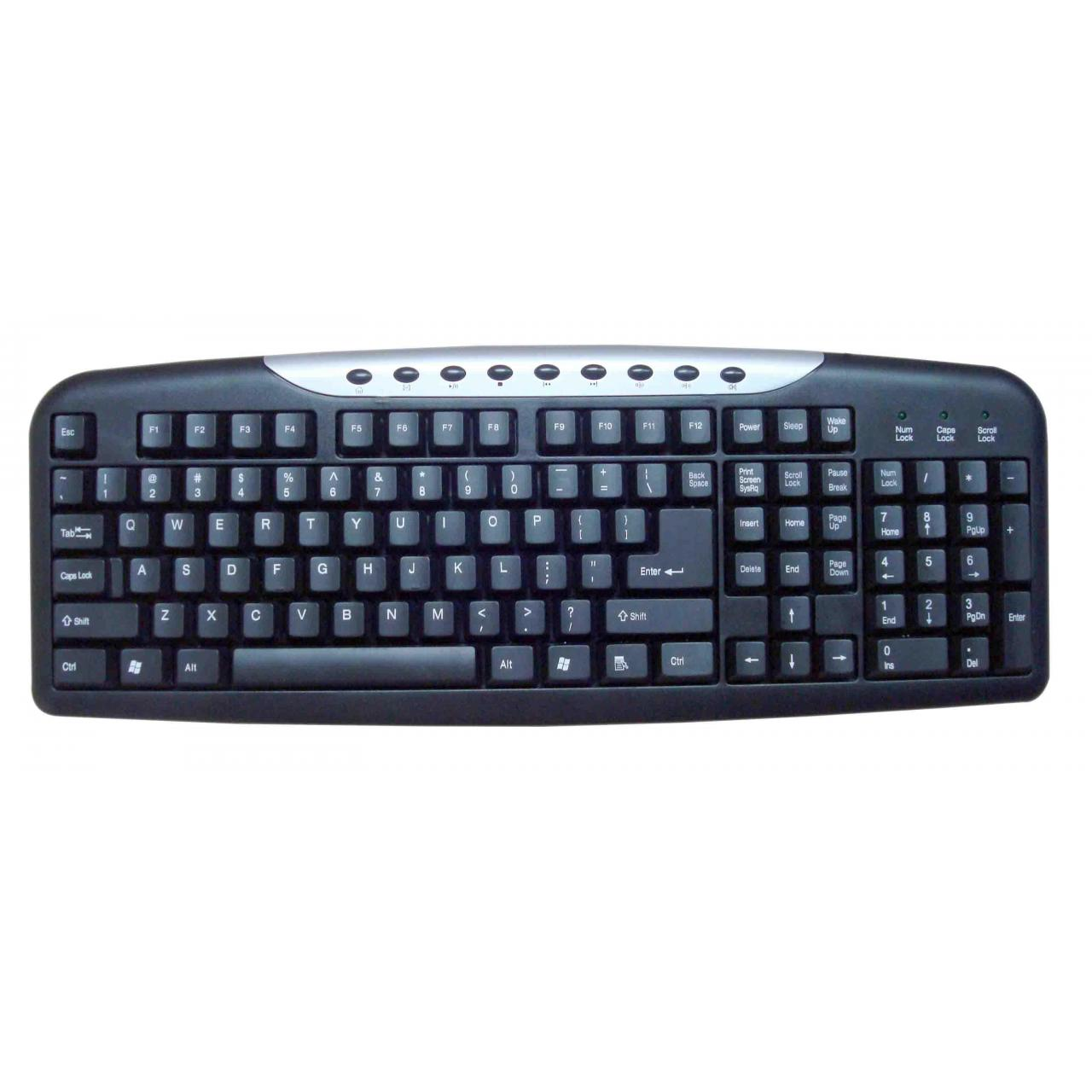 Buy cheap Multimedia wired keyboards with 9 hot keys easily access to functions from wholesalers